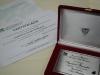 Certificados, placas e flores aos palestrantes